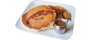 Pancake with Bacon-Enriched Caramel Sauc