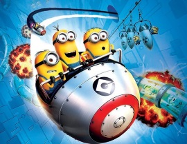 今、一番の目玉、3Dライド「Despicable Me Minion Mayhem」 ©2014 NBC Universal
