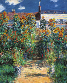 Claude Monetの作品「The Artist's Garden at Vétheuil」