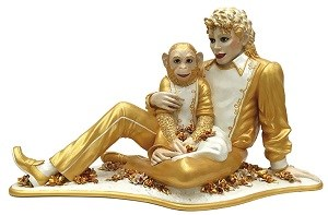 Jeff Koonsの作品「Michael Jackson and Bubbles」