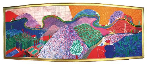 David Hockneyの作品「Mulholland Drive:The Road to the Studio」