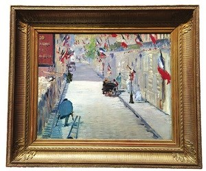 Éduard Manetの作品「The Rue Mosnier with Flags」